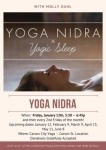 Yoga Nidra flyer
