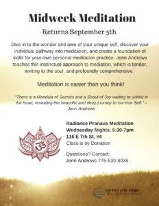 Midweek Meditation Flyer