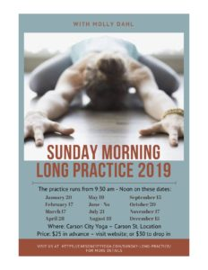 Sunday Long Practice Flyer