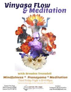 Vinyasa Flow and Meditation Flyer