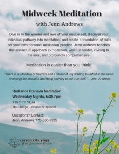 Midweek Meditation Flyer