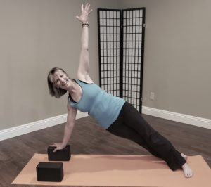 side plank with block